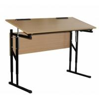 Стол ученический 2-местный с изменяемым наклоном столешницы